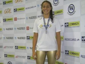 Nadadora no Campeonato Brasileiro