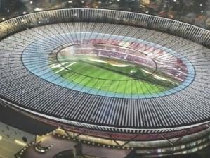 Maquete do projeto de reforma do estádio do Morumbi para a a Copa de 2014
