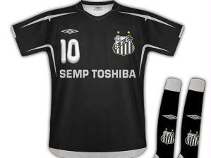 santos / camisa preta