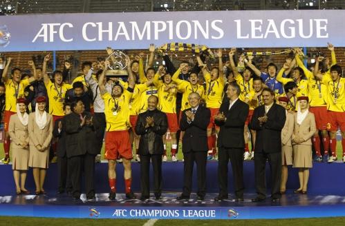 Festa do time sul-campeão pelo título no continente asiático