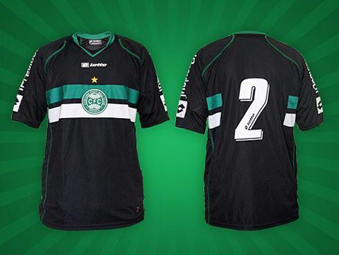 O tecido é o mesmo usado nas camisas modelo 1 (tradiconal branca com faixas  verde horizontal) e modelo 2 (listrada com faixas na horizontal) do Coritiba . 0134637730fe6