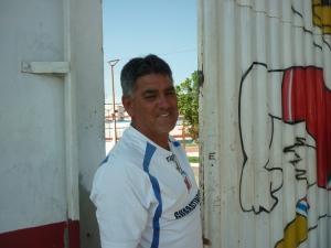 Luiz Carlos Gonçalves, porteiro do estádio Dario Rodrigues Leite e que ficará desempregado