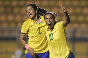 Marta comemora gol do Brasil