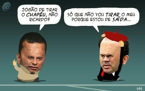 Charge com Celso Roth e Ricardo Gomes