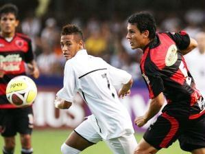 neymar marca e santos vence oeste