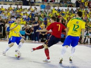Brasil x Espanha no futsal