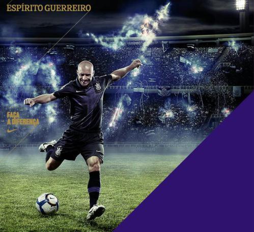 Corinthians adota cruz no peito em 3º uniforme para 2010 - iG ... 2a6843ba83a00