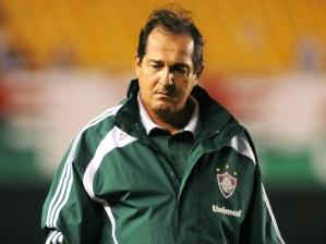 Muricy Ramalho na partida Fluminense 1 x 1 Grêmio Prudente, pela 8ª rodada do Brasileirão 2010, e...
