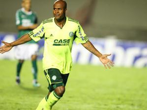 Marcos Assunção comemora seu gol pelo Palmeiras contra o Goiás, na Copa Sul-Americana