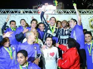 Corinthians comemora o título da Copa do Brasil de 2009