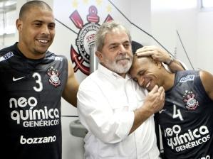 Ronaldo, Lula e Roberto Carlos