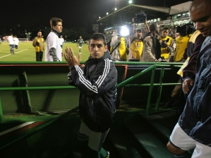 Diego aplaude torcedores