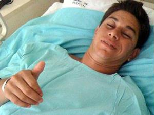 conca acena após cirurgia
