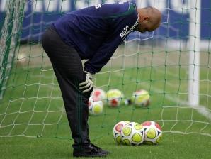 Marcos em treino do Palmeiras