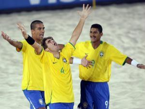 Seleção comemora título