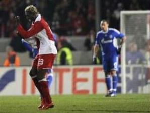 Aristide Bance comemora gol na Copa da Alemanha