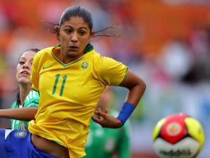 A atacante Cristiane, da seleção brasileira feminina