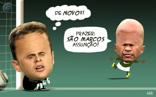 Charge com Renan e Marcos Assunção, por Milton Trajano