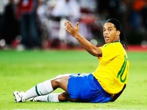 Ronaldinho Gaúcho durante o amistoso Brasil 0 x 1 Argentina, em Doha, no Catar