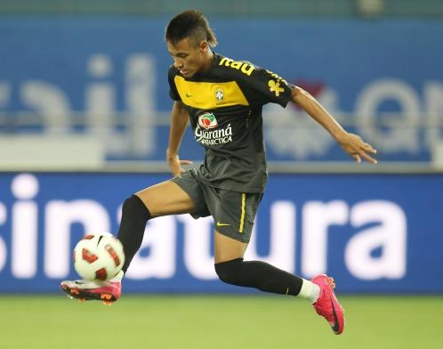 No primeiro e único jogo que fez pela seleção até aqui, Neymar marcou um gol