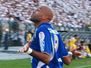 Nunes comemora gol na final do Paulistão, contra o Santos